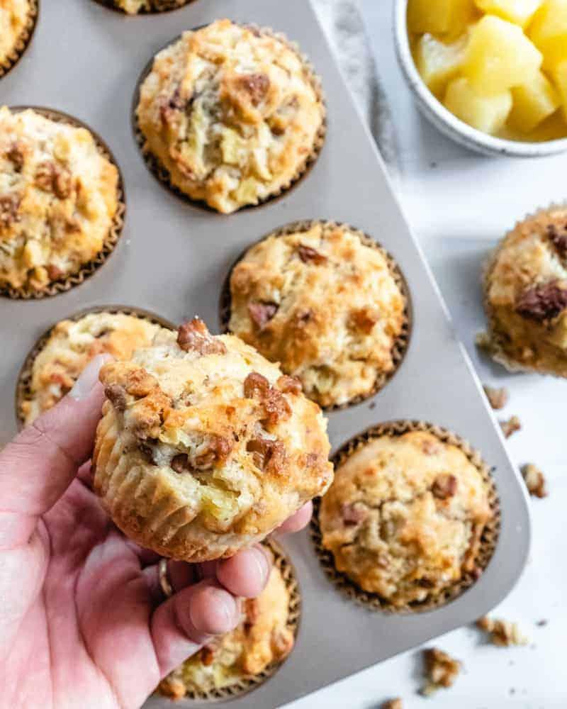Pineapple Walnut Muffins