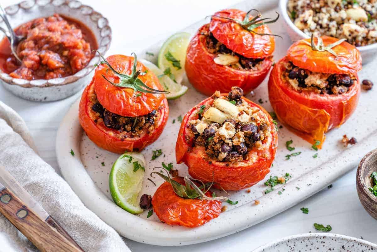 Stuffed Tomatoes Vegan