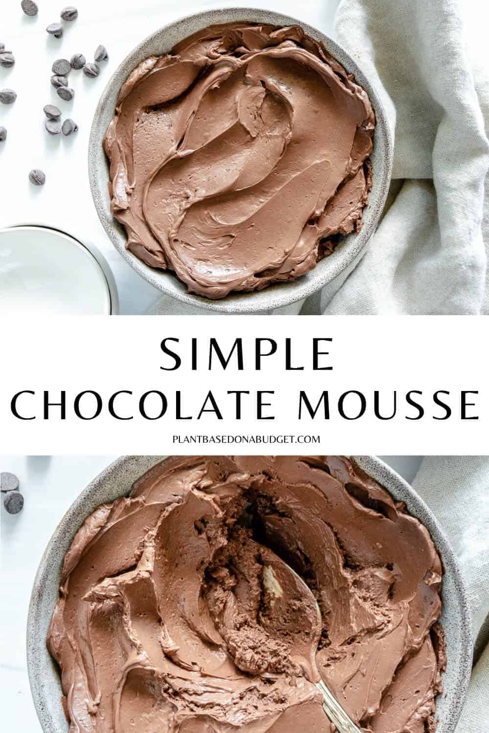 pinterest graphic for Simple Chocolate Mousse