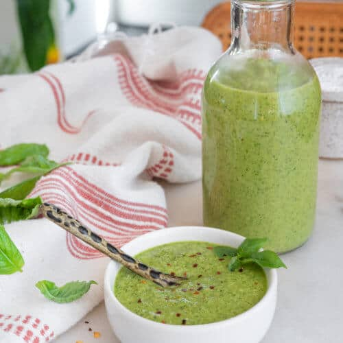 Basil Peanut Salad Dressing Plant Based on a Budget 2