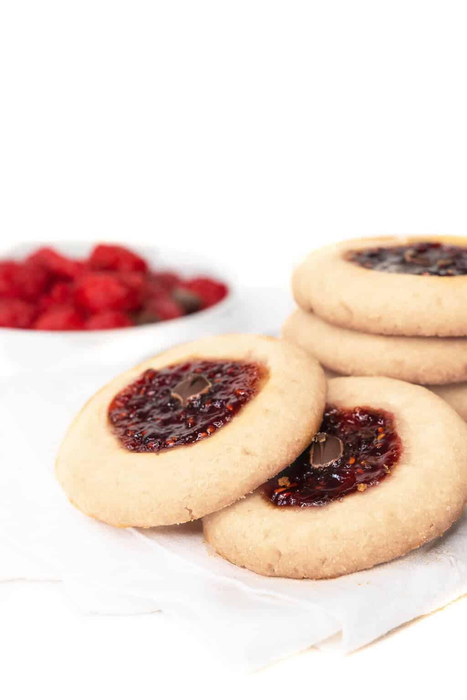 Raspberry Jam Thumbprint Cookies