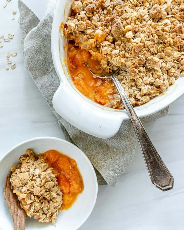Vegan Apricot Crisp