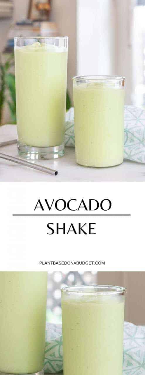 Avocado Shake   Plant-Based on a Budget   #avocado #smoothie #shake #snack #plantbasedonabudget