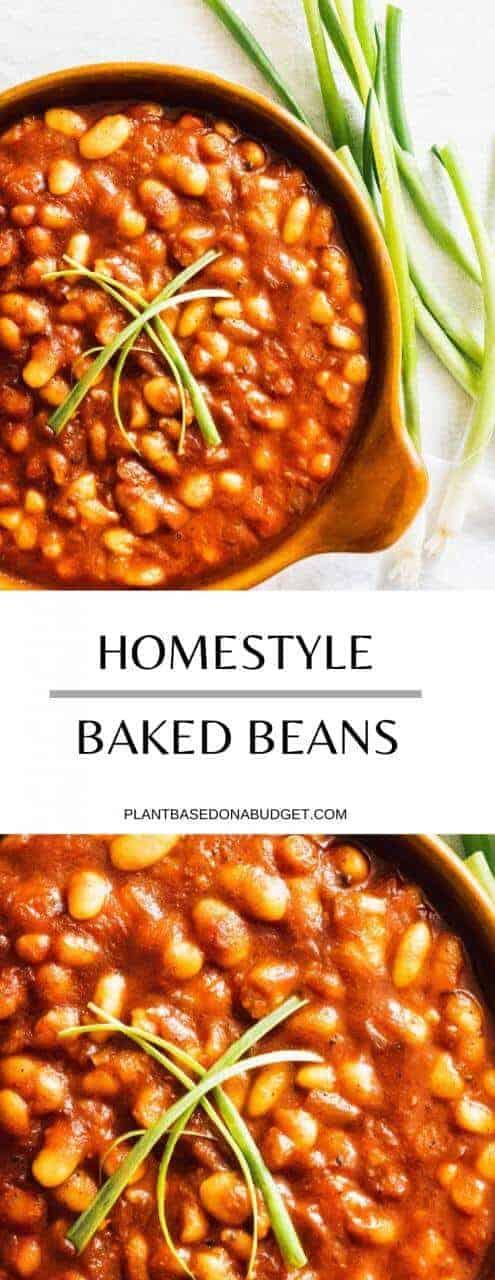 Homestyle Baked Beans Recipe | Plant-Based on a Budget | #beans #baked #vegan #protein #recipe #plantbased #plantbasedonabudget