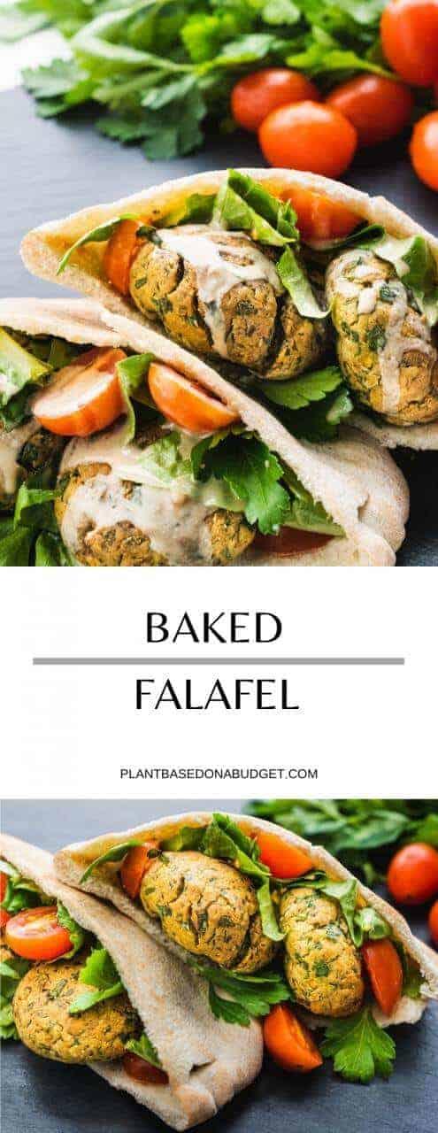 Easy Baked Falafel | Plant-Based on a Budget | #falafel #baked #healthy #vegan #lunch #plantbasedonabudget
