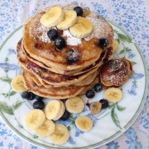 Banana Blueberry Pancakes 1