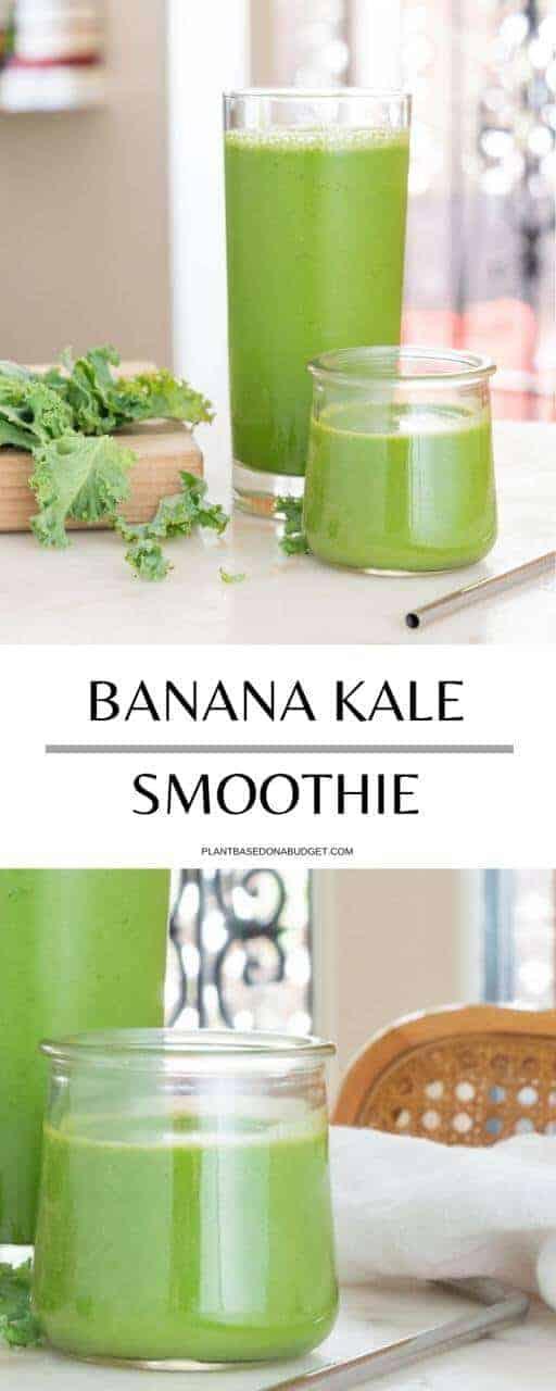 Banana Kale Smoothie | Plant-Based on a Budget | #banana #kale #smoothie #green #breakfast #plantbasedonabudget