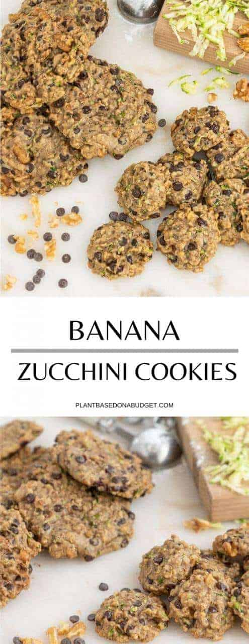 Banana Zucchini Cookies | Plant-Based on a Budget | #cookies #zucchini #chocolate #banana #vegan #plantbasedonabudget