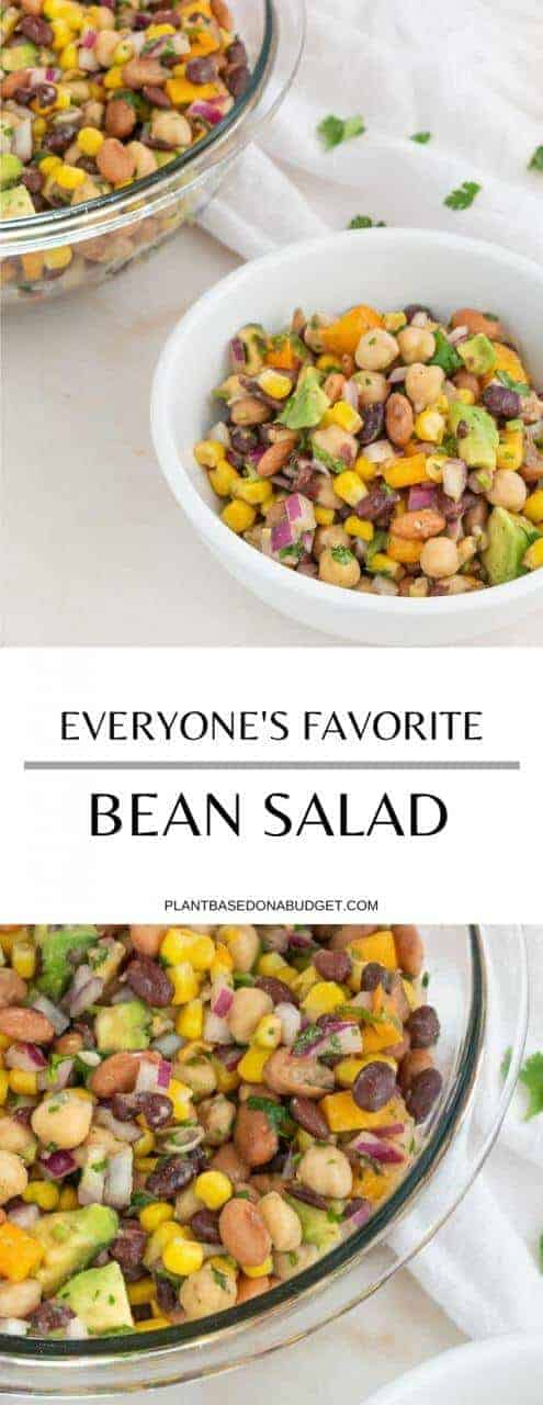 Everyone's Favorite Bean Salad   Plant-based on a Budget   #bean #salad #vegan #easy #plantbasedonabudget