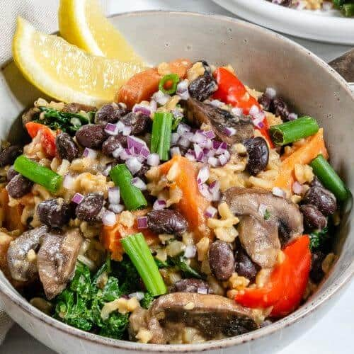 Black Bean and Onion Pilaf Plant Based on a Budget 2
