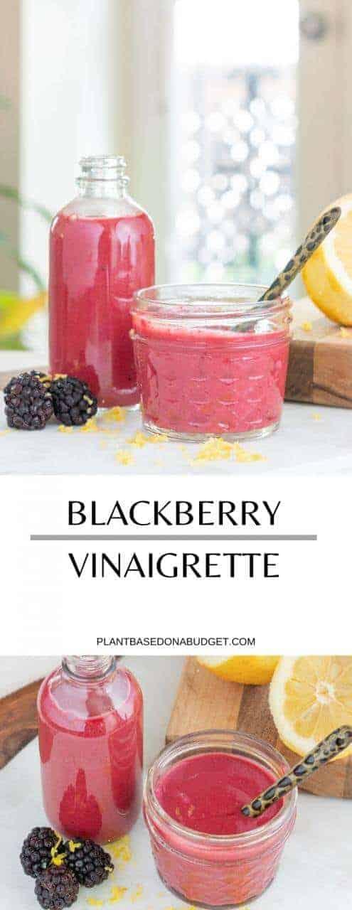 Blackberry Vinaigrette | Plant-based on a Budget | #dressing #vinaigrette #blackberry #salads #plantbasedonabudget