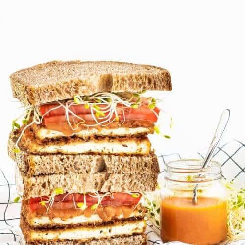 Buffalo Tofu Sandwich 1
