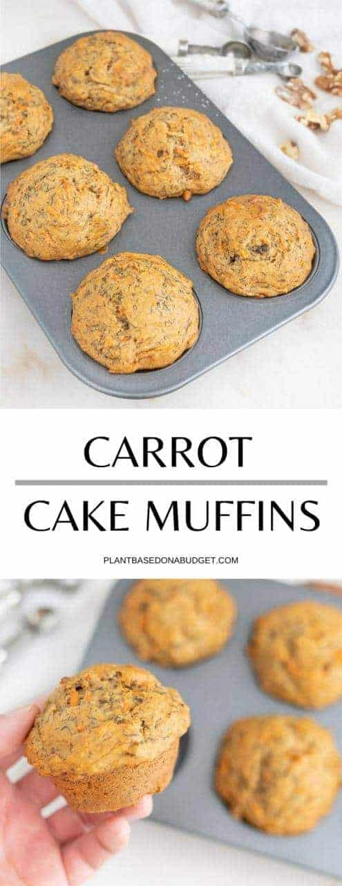 Carrot Cake Muffins   Plant-Based on a Budget   #carrot #cake #muffins #dessert #vegan #snack #vegan #plantbasedonabudget