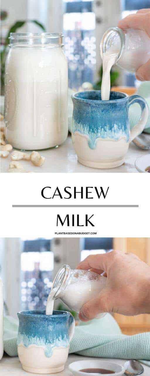 Homemade Cashew Milk Pinterest Graphic