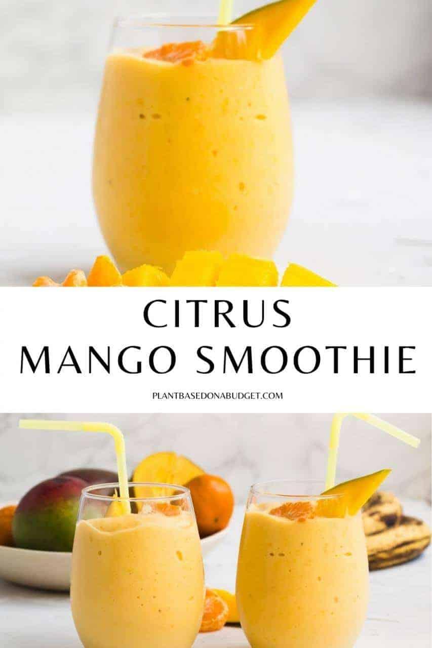 Citrus Mango Smoothie Pinterest Graphic