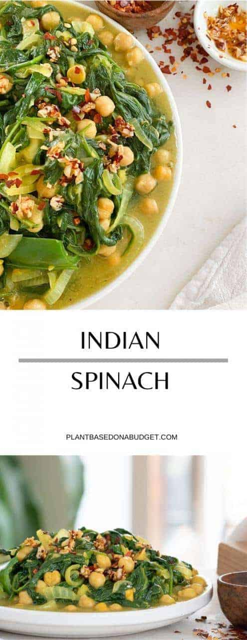 Indian Slow Cooked Spinach | Plant-Based on a Budget | #spinach #indian #slow #braised #side #vegan #plantbasedonabudget
