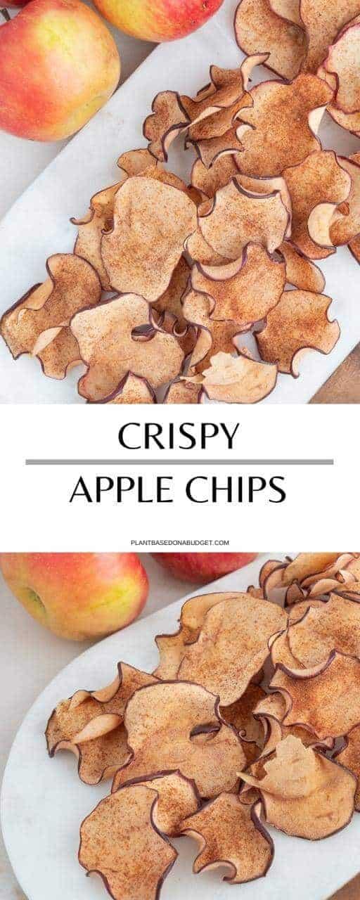 Crispy Apple Chips   Plant-Based on a Budget   #apple #chips #snack #vegan #homemade #plantbasedonabudget
