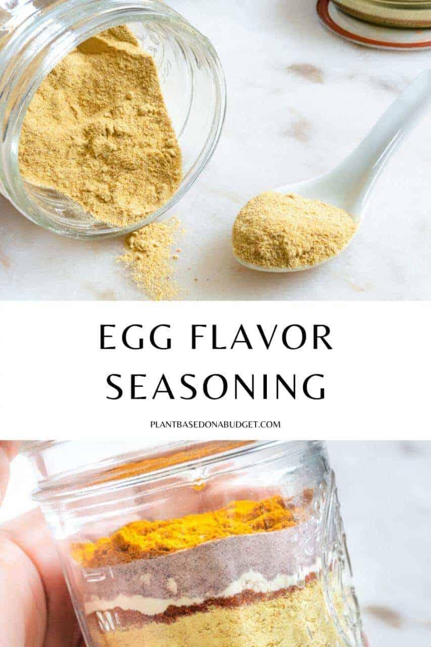 Egg Flavor Seasoning Pinterest Graphic