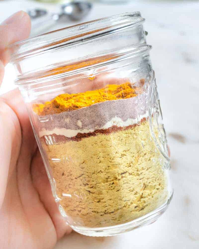 If you've been missing those egg based recipes since you've adopted a plant-based style, then this delicious Egg Flavor Seasoning is for you! It's easy to make and can be added to any recipe you like! #egg #vegan #seasoning #flavor #recipes #plantbasedonabudget