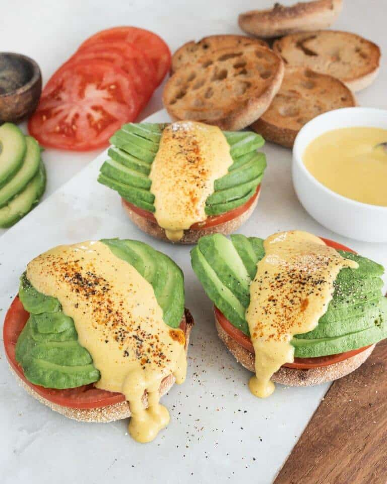 Eggless Benedict with Hollandaise