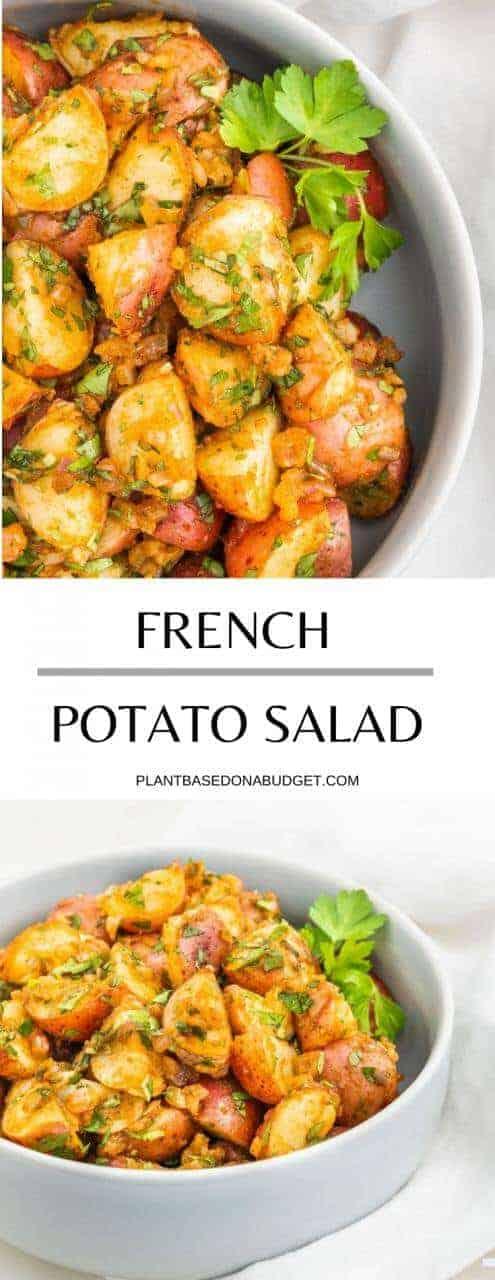 French Potato Salad   Plant-Based on a Budget   #vegan #french #potato #salad #plantbasedonabudget