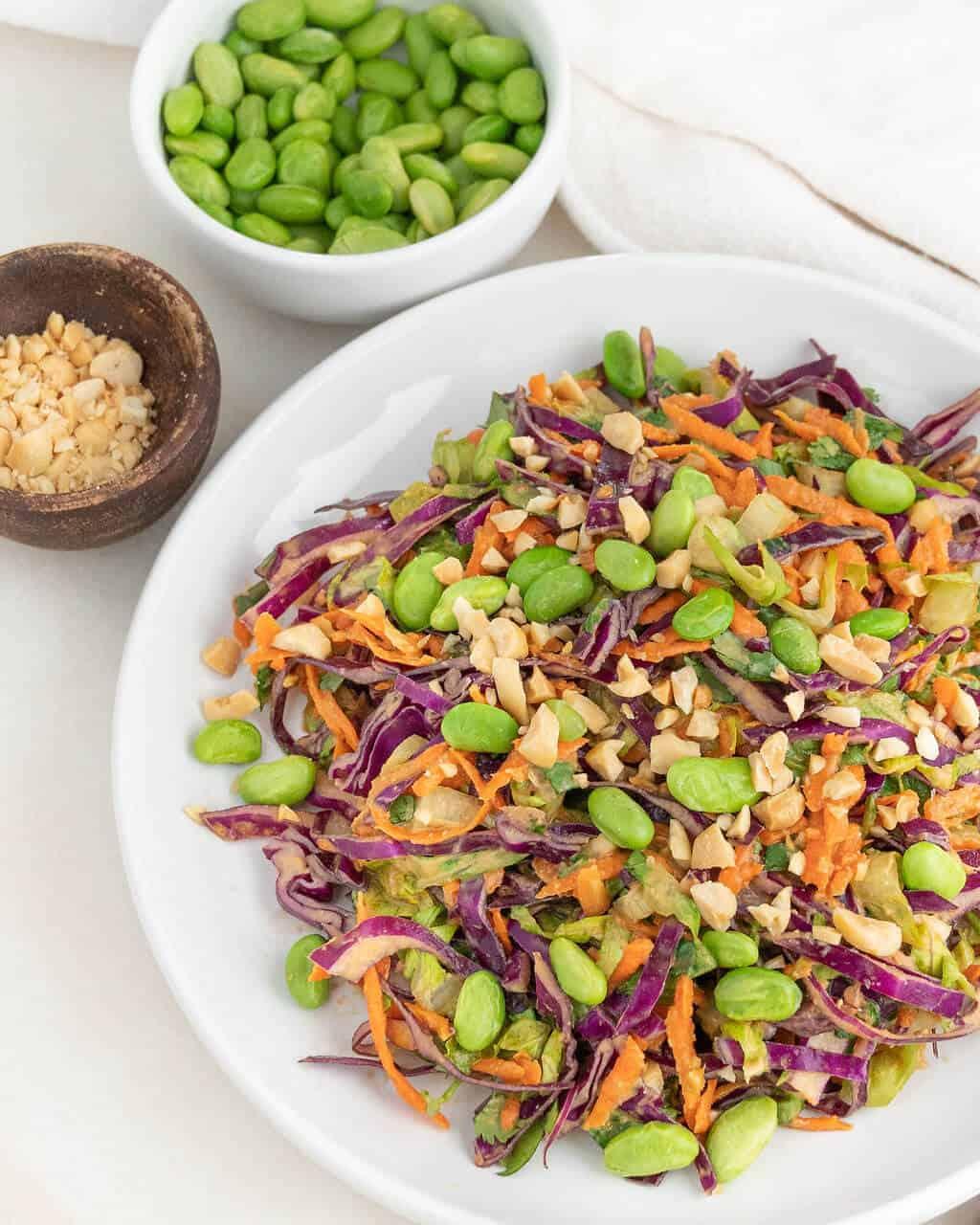 Fresh Crunchy Salad with Peanut Dressing