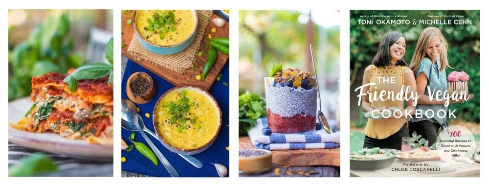 The Friendly Vegan Cookbook by Toni Okamoto & Michelle Cehn