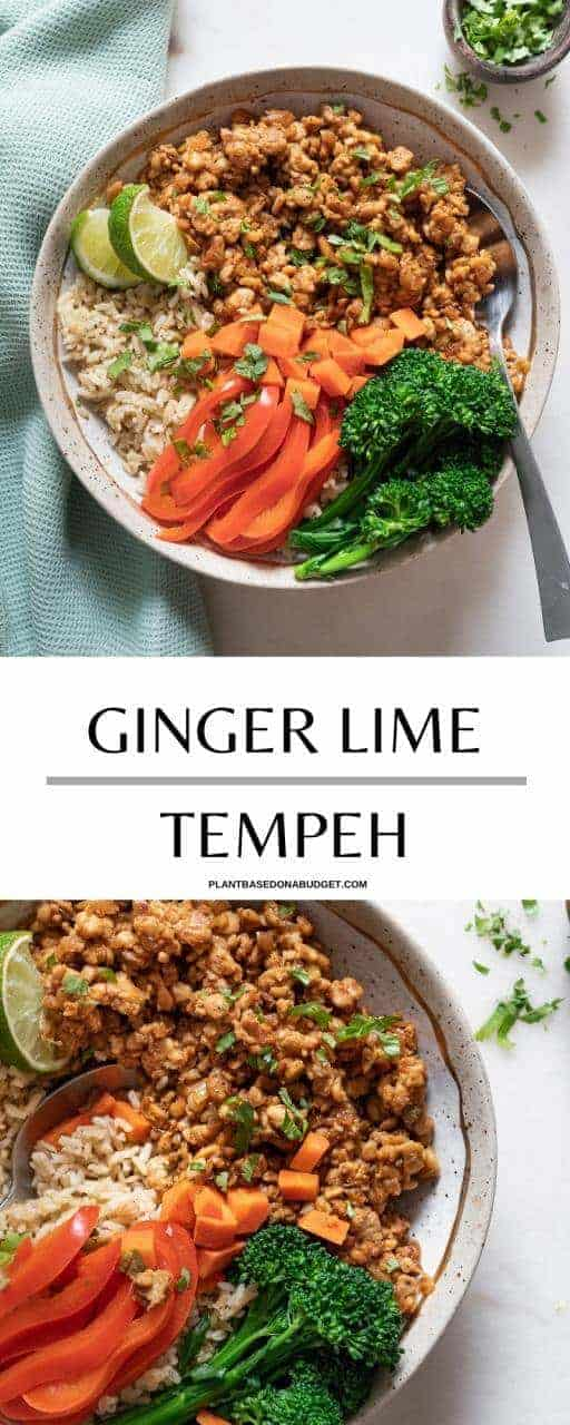 Ginger Lime Tempeh - Plant Based on a Budget- Pinterest Graphic
