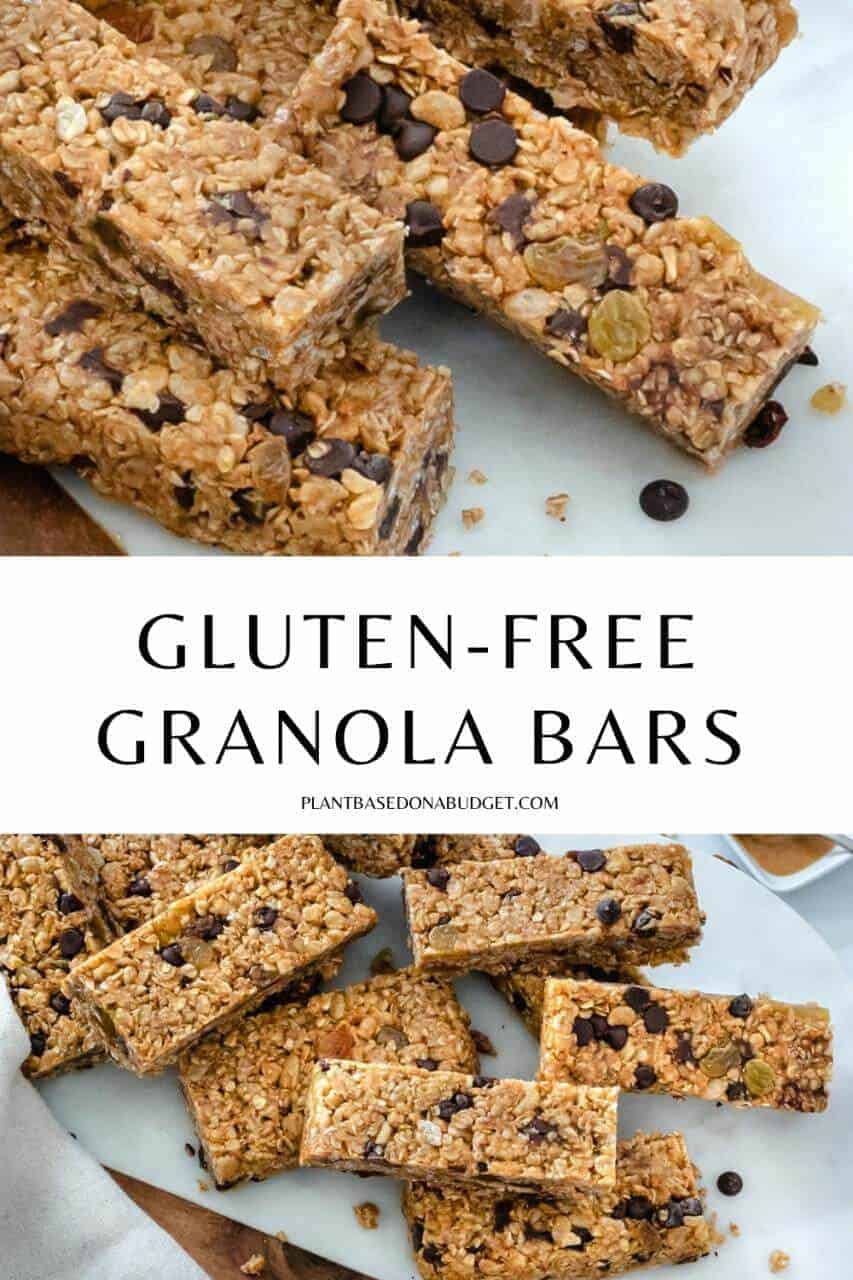 Homemade Granola Bars Liad out on a marble white surface