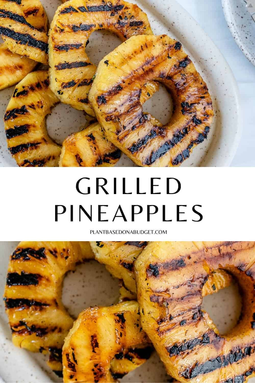 pinterest graphic for grilled pineapples