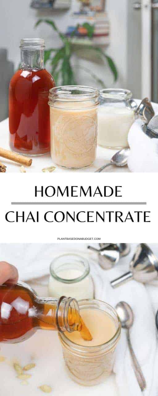 Homemade Chai Concentrate | Plant-Based on a Budget | #chai #concentrate #tea #vegan #homemade #plantbasedonabudget