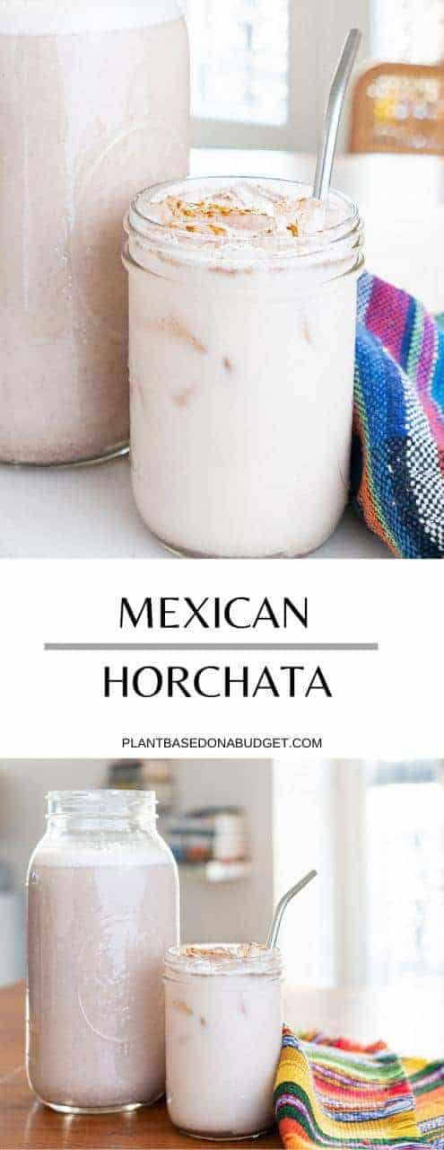 Plant-Based Mexican Horchata | Plant-Based on a Budget | #mexican #rice #drink #recipe #vegan #sweet #plantbasedonabudget