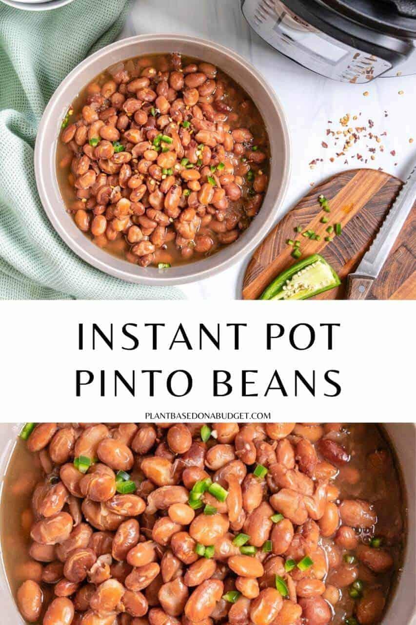 Instant Pot Pinto Beans Pinterest Graphic