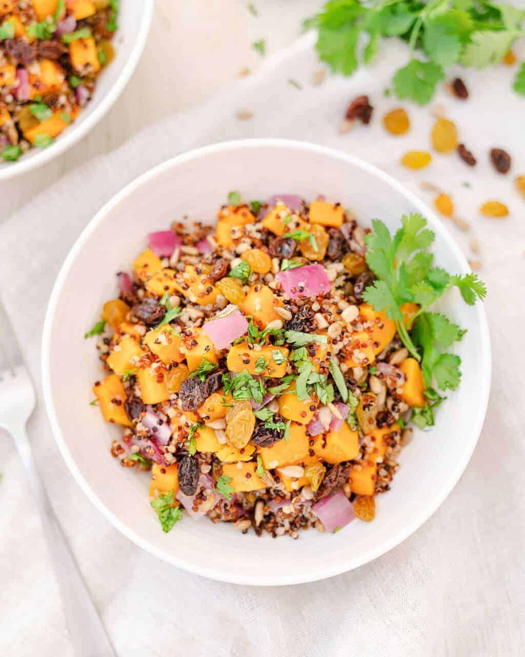 Sweet Potato Quinoa Bowl   Easy Fall Recipe   #bowl #vegan #quinoa #fall #recipe #plantbasedonabudget