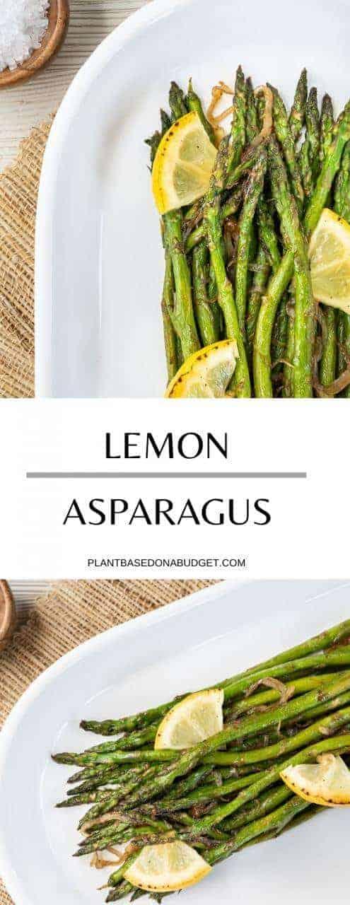 Simple Roasted Asparagus | Plant Based On a Budget | #asparagus #grill #roasted #veggies #vegan #seasonal #barbecue #plantbasedonabudget