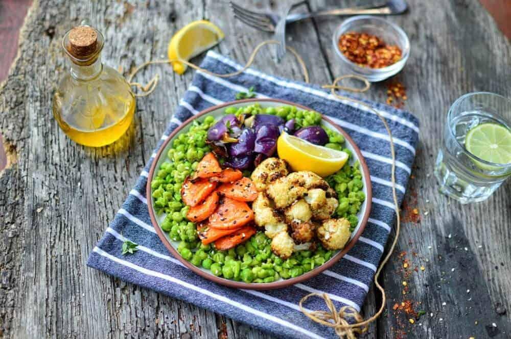 Mushy Peas with Roasted Veg 4