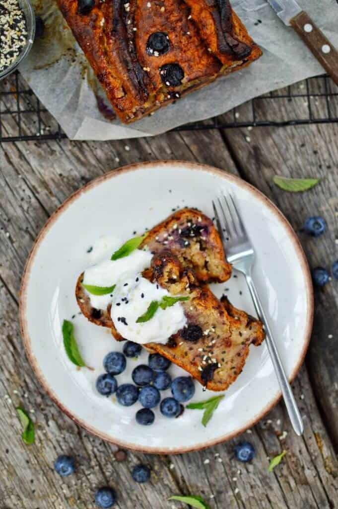 No fuss Blueberry Banana Bread 3