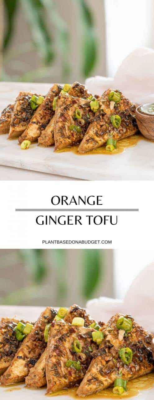 Orange Ginger Tofu   Plant-Based on a Budget   #tofu #orange #ginger #vegan #protein #plantbasedonabudget
