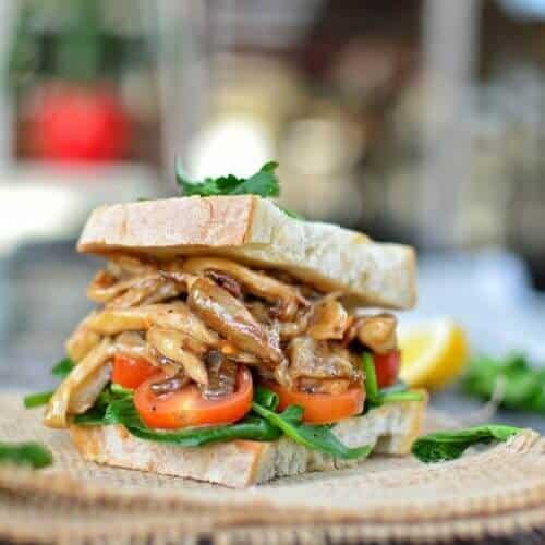 Oyster Mushroom Steak Sandwich 3 1