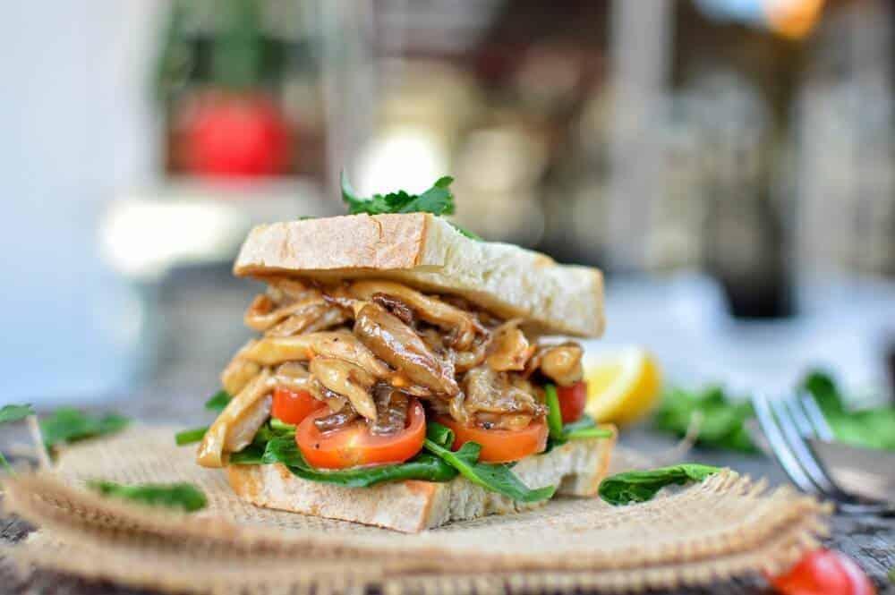 Oyster Mushroom Steak Sandwich 3