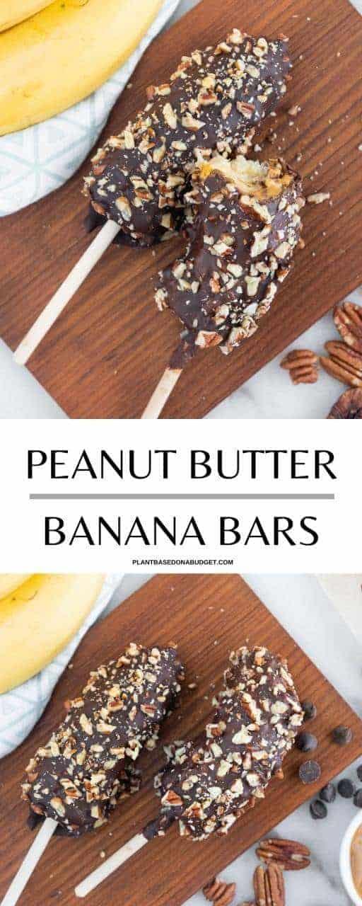 Banana Chocolate Sticks Pinterest Graphic