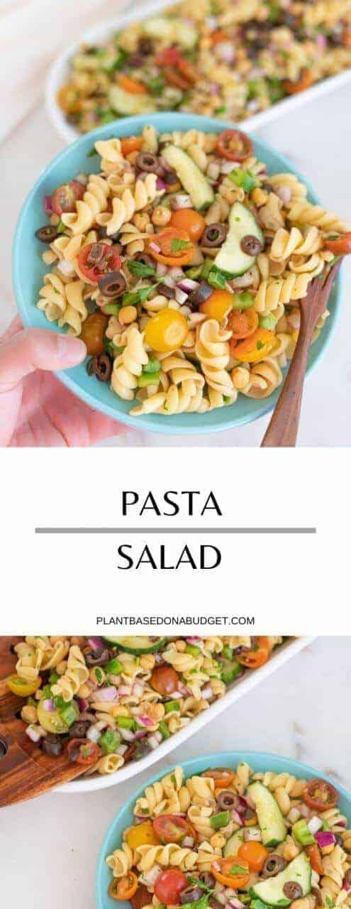 The Perfect Pasta Salad   Plant-Based on a Budget   #pasta #salad #vegan #picnic #summer #plantbasedonabudget