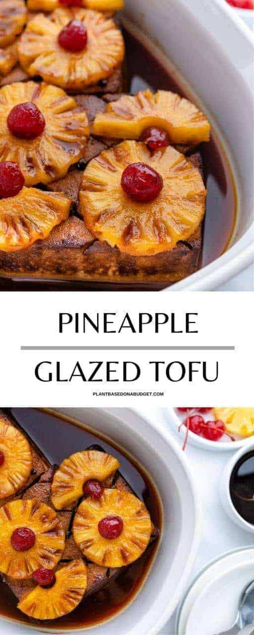 Tofu Cooked with Pineapple and sauce