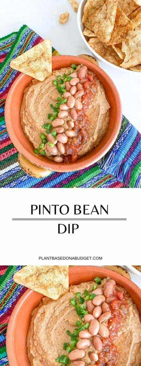 Perfect Pinto Bean Dip | Plant-based on a Budget | #dip #pinto #bean #spread #vegan #plantbasedonabudget