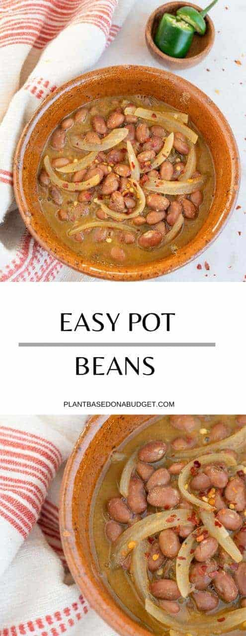 Pot Beans Recipe | Frijoles de Olla | Plant-Based on a Budget | #beans #pot #frijoles #mexican #vegan #plantbasedonabudget