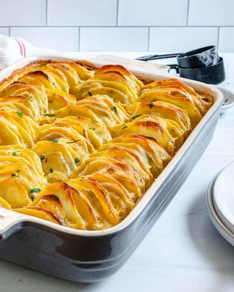 Scalloped Potatoes Plant Based on a Budget 4