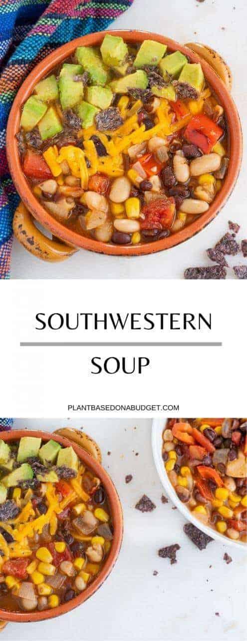 Southwestern Soup | Plant-Based on a Budget | #soup #mexican #vegan #easy #plantbasedonabudget