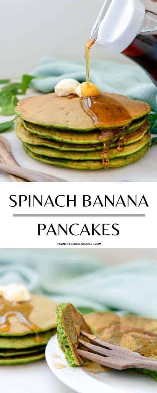Spinach Banana Pancakes Pinterest Graphic