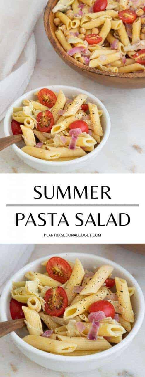 Summer Pasta Salad | Plant-Based on a Budget | #summer #pasta #salad #veggies #vegan #plantbasedonabudget