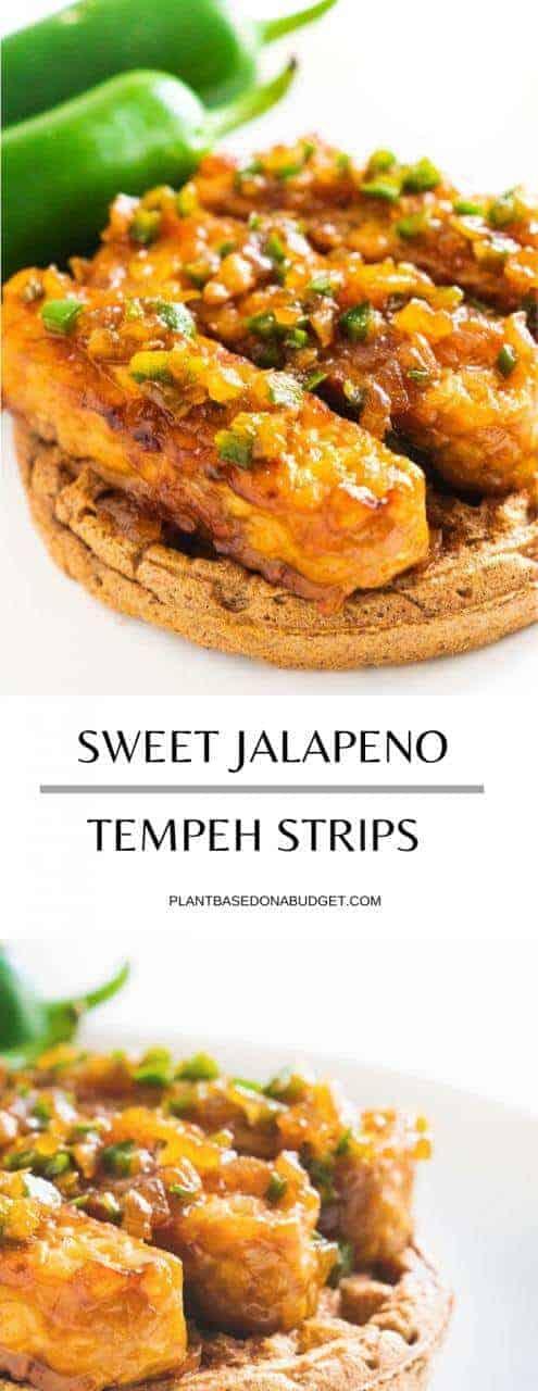 Sweet Jalapeño Tempeh Strips   Plant-Based on a Budget   #